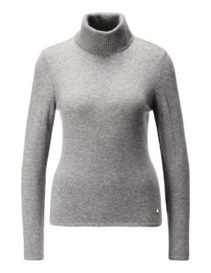 Polo neck pure cashmere jumper