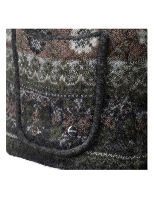 Folklore-style jacquard cardigan