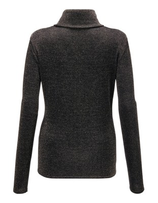 Lustrous roll-neck jumper