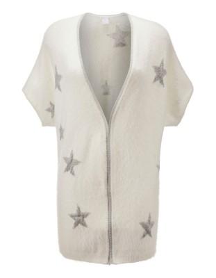 Intarsia star short-sleeved cardigan