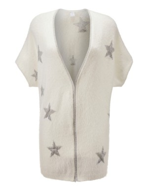 Intarsia star short-sleeved cardigan