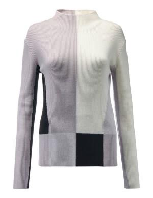 New wool patchwork pattern jumper