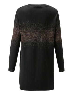 Sequin-adorned scoop neckline jumper