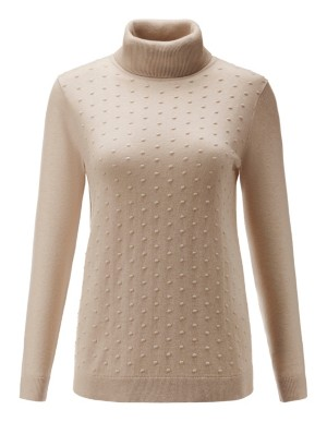 Polka dot roll-neck jumper