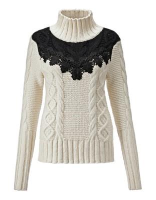 Lace embellished jumper