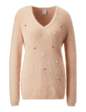 Bead-embellished jumper