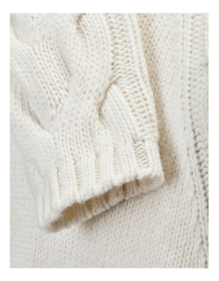 Cable-braided jumper with cashmere