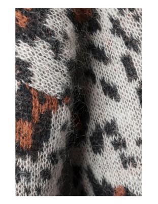 Leopard print mohair jumper