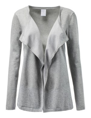 Casual, open-front cardigan