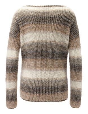 Relaxed-fit striped boxy jumper