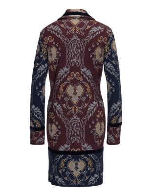 Knitted jacquard coat