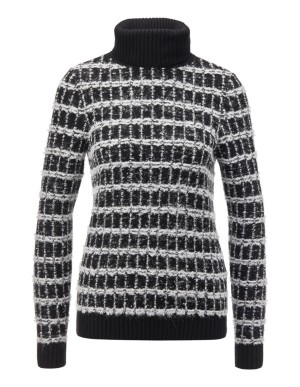 Contrast pattern novelty yarn jumper