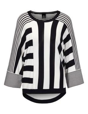 Oversized patchwork jumper