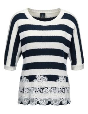 Block striped jumper