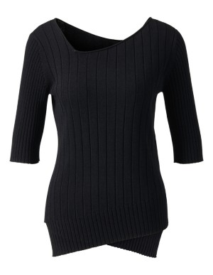 Ribbed asymmetric jumper