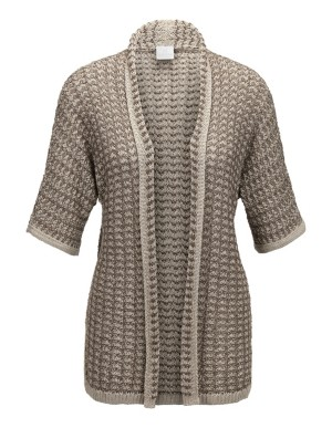 Eyelet knitwear cardigan