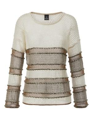 Eyelet-knit summer jumper
