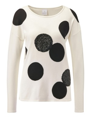 Polka dot and sequin jumper
