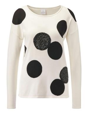 Polka dot and sequin jumper