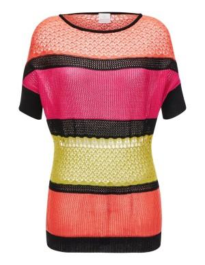 Colour block cotton jumper