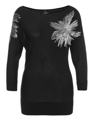Jumper decorated with sparkling sequins