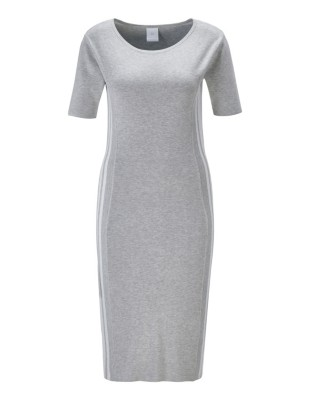 Knitted dress with side stripes