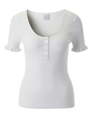 Jumper with short ruffled sleeves