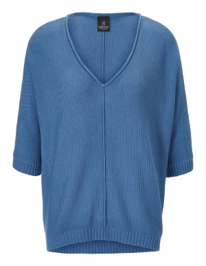 Seed stitch jumper with kimono sleeves