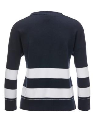 Block striped cotton cardigan