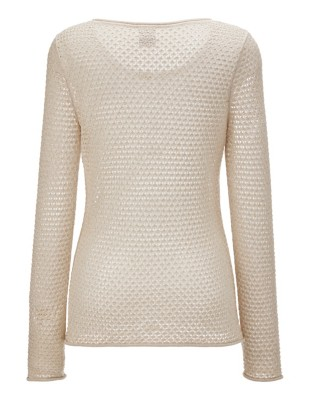 Light summer jumper with gold-coloured effects