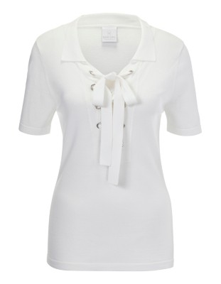 Short-sleeved polo style jumper