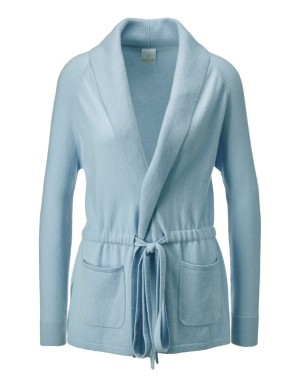 Cashmere cardigan with tie belt
