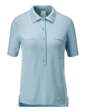 Polo-style cashmere top