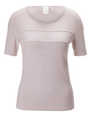 Shape-retaining, short-sleeved jumper