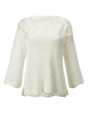 Transparent eyelet jumper