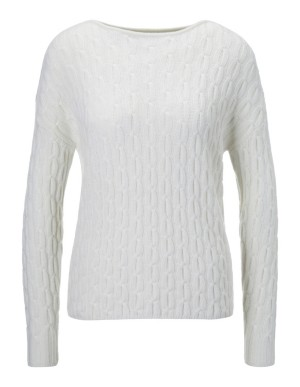 Cashmere cable pattern jumper