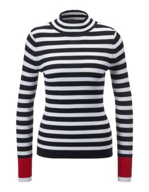 Striped slim-fit jumper