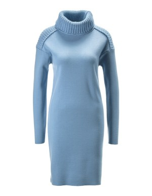 Knitted roll-neck dress