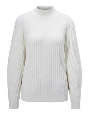 Ribbed wool and cashmere jumper
