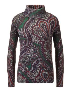 Multi-coloured print jumper