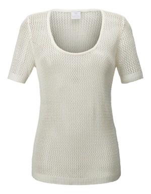 Eyelet knitwear jumper