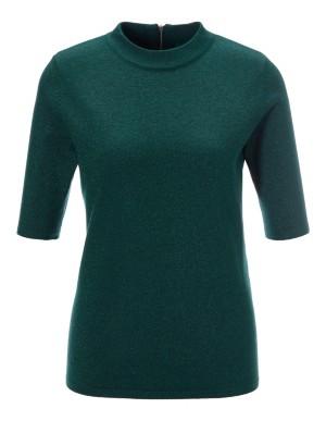 Short-sleeved lamé jumper