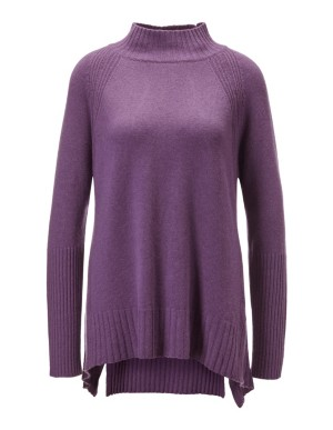 Cashmere high-low jumper