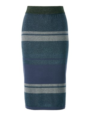Sparkling knitted pencil skirt