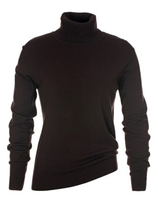 Form-fitting polo neck jumper