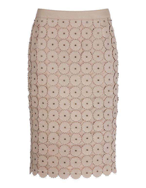 Кожаная юбка карандаш с доставкой