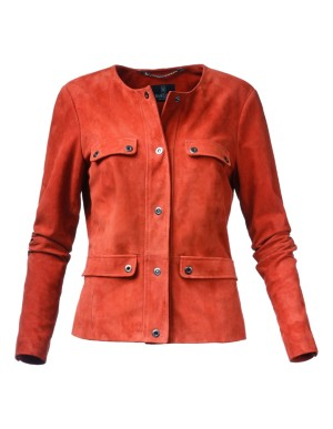 Kid suede leather jacket