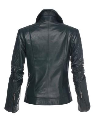 Nappa lamb leather jacket