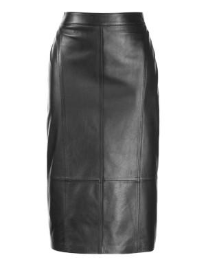 Nappa lamb leather pencil skirt