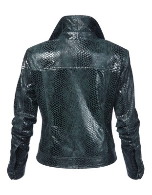 Leather jacket, kid suede